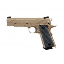 Wiatrówka Colt 1911 M45 CQBP Blow Back 4,5 mm - desert (5.8177)